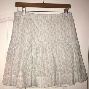 JCrew Factory Seersucker Drop Waist Skirt, Size 0